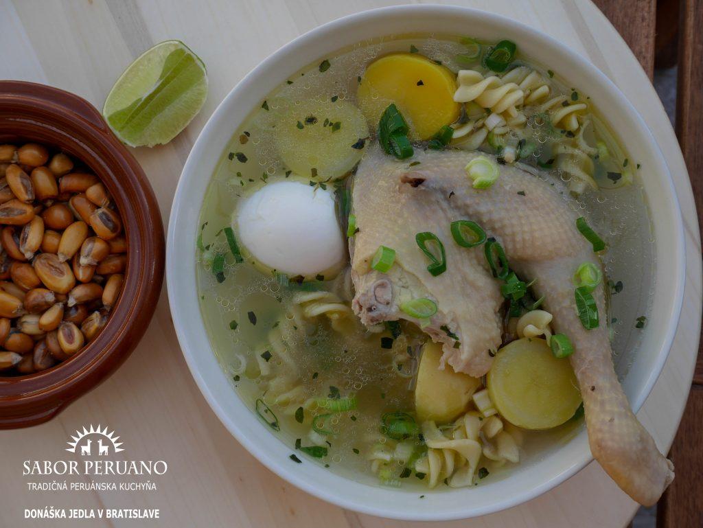 Peruánska slepačia polievka