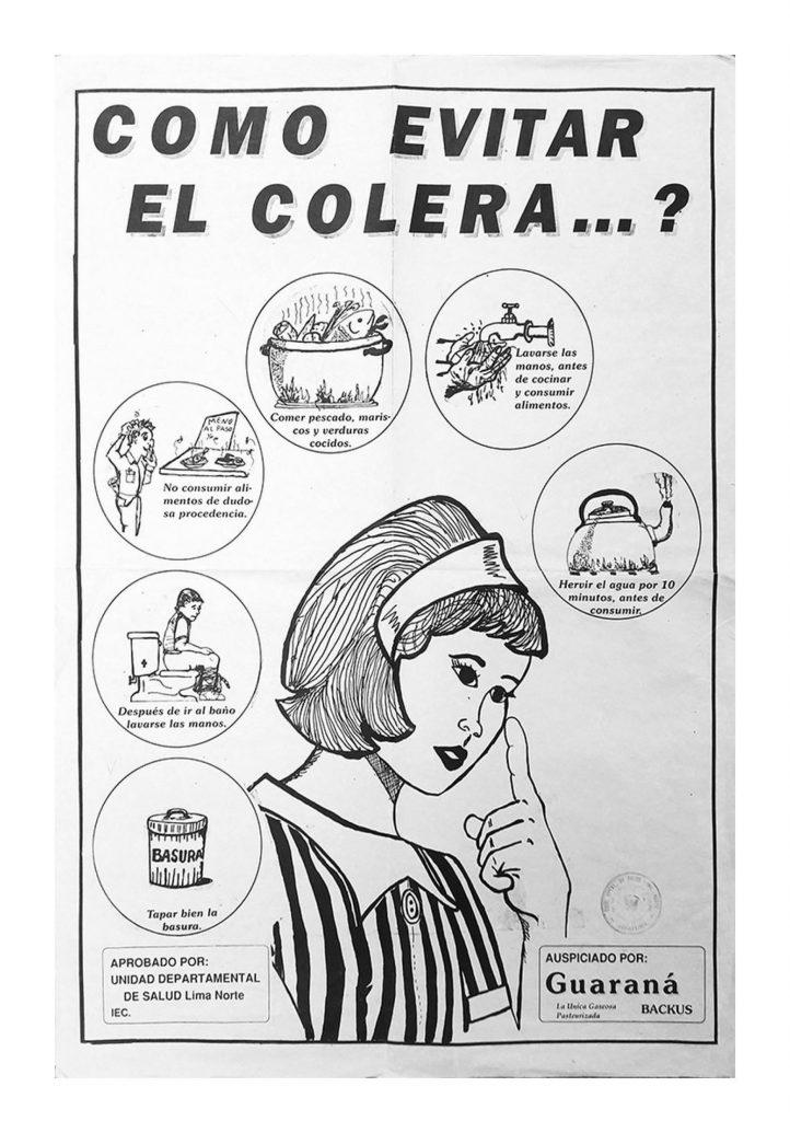 informačný leták cholera Peru